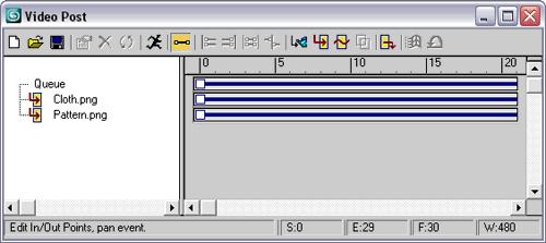 Рис. 47. Окно Video Post с двумя событиями Image Input Event