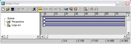 Рис. 59. Формирование очереди для получения файла с анимированным логотипом
