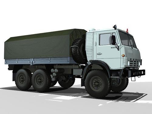 3d модель - Авто Камаз