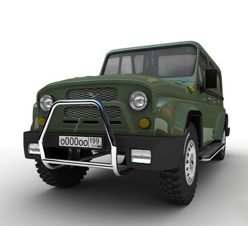 3d модель - Авто УАЗ