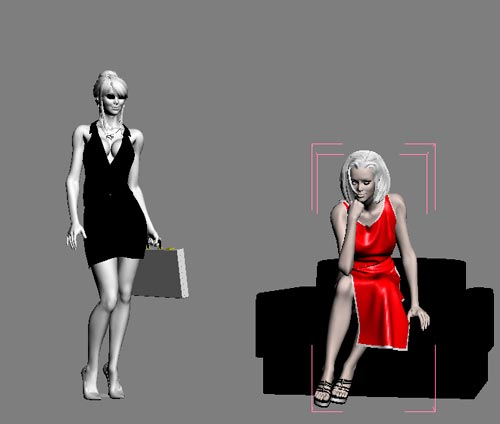 3d business women - 5 шт