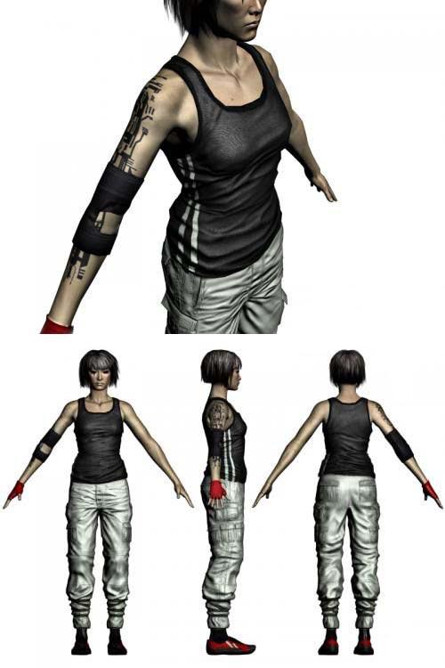 3d Max модель - Girl