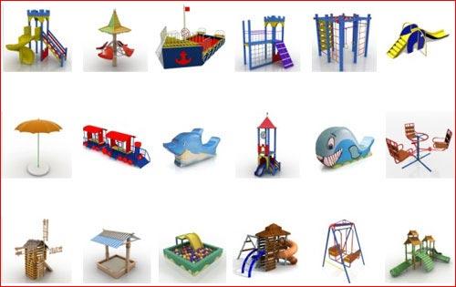3ds Max модель - Playgrounds