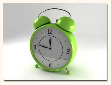 3d модель - будильник