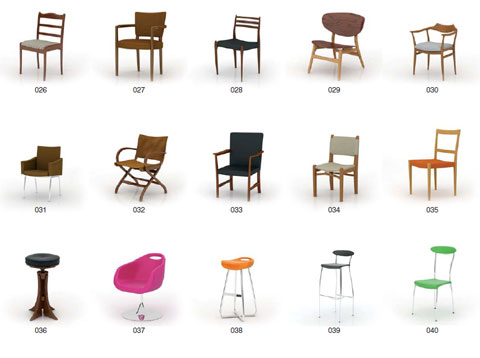 Archmodels vol.8 -  3d модели стульев, столов, комодов