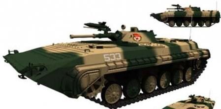 3d модель БМП