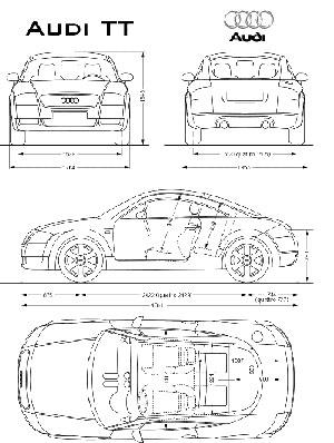 Чертежи автомобилей - набор №1