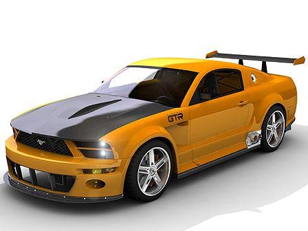 3D модель Ford Mustang GTR