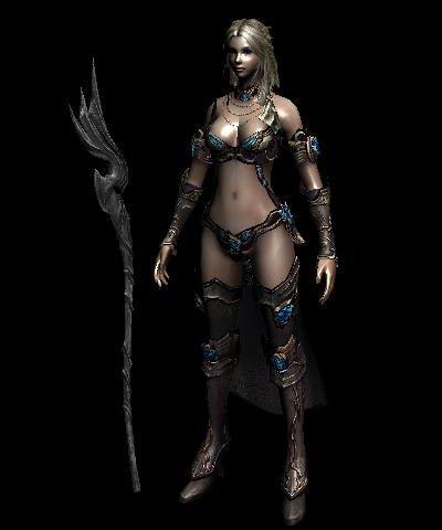 3ds Max модель - Game girl