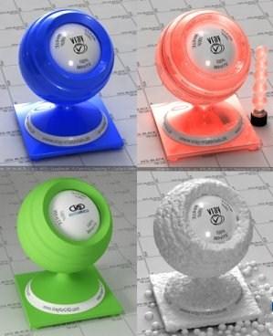 Материалы V - RAY пластик для 3Ds MAX