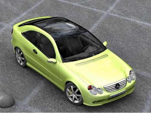 3D модель Mercedes Benz c230