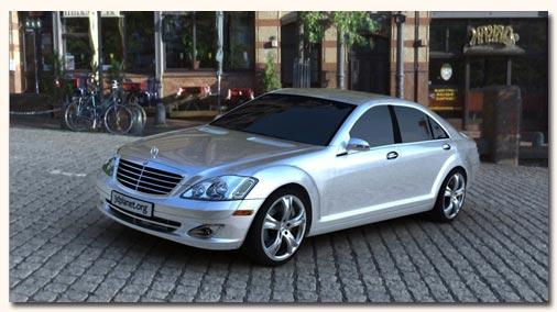 3D модель Mercedes S55