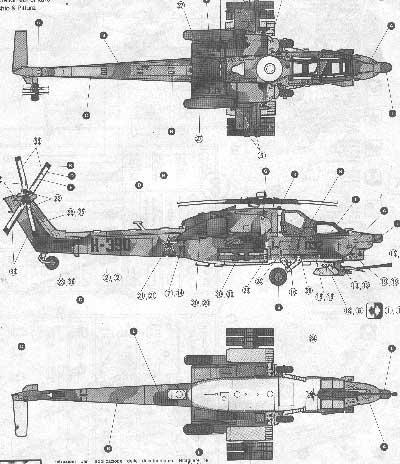 Вертолеты (чертежи и схемы)