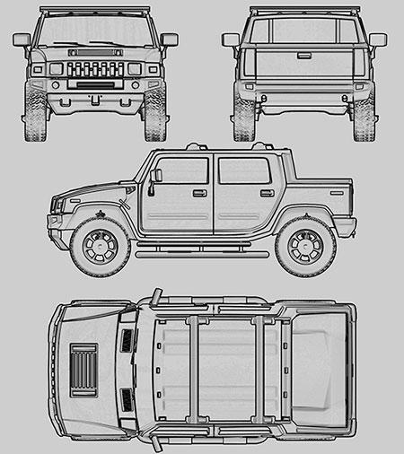 Чертежи автомобилей - набор №2