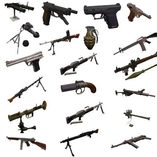 Арсенал оружия 3d мах + текстуры 34 модели