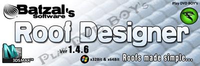 Batzal Roof Designer 1.4.6 3DsMax 2009-2012 32Bit & 64Bit