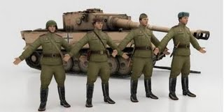 GD 3D models Russian soldiers+Tank Tiger