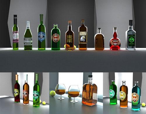 3D бутылки
